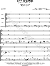 city of stars violin sheet music