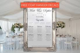 Etsy Mirror Seating Chart Mirror Table Plan Wedding Table Plan Mirror Seating Plan Wedding Signs Wedding Vinyl Sticker Table Plan Decal Wedding Seat Chart