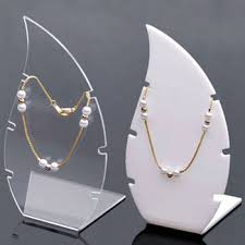 Acrylic Necklace Display Stands Colored Leaf Shaped Acrylic Necklace Display Stand Plexiglass 70