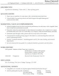 Objective For Resume In Sales Sales Objective On Resume Paknts Com
