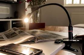 the aglaia clamp light with an adjule gooseneck and an energy efficient mains powered 4w dimmable