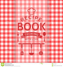 recipe book cover template downloads recipe book vector card stock vector illustration of cooking