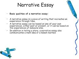 narrative essay on life experiences co narrative