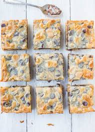 caramel peanut er chocolate chip gooey bars keep the napkins handy for these soft