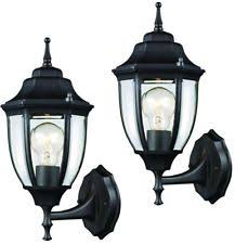 hampton bay exterior wall lantern with built in electrical outlet gfci. set of 2 exterior outdoor doorway lantern wall light fixture patio porch elegant hampton bay with built in electrical outlet gfci