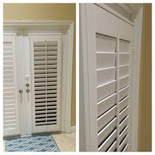 White PolyWood Plantation Shutters on French Doors - Yelp