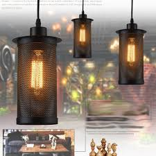 4 of 10 new vintage industrial diy ceiling lamp edison light chandelier pendant lighting