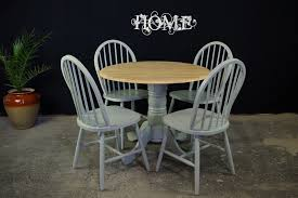 new latiano round pedestal drop leaf table 4 windsor chairs