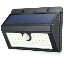 solar motion sensor light led 3 modes triangle wall lamp free security homebase pp