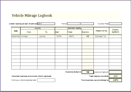 Mileage Record Sheet Vehicle Mileage Log Excel Book App Auto Car And Expense Record