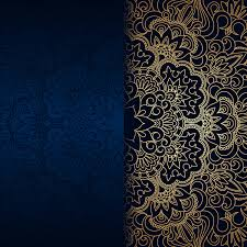 Blue And Gold Design Luxury Blue Background With Ornament Gold Vector 08 Free