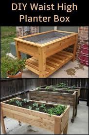 diy waist high planter box box diy