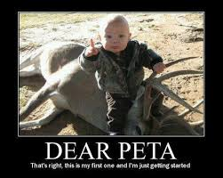 "Famous Female Hunter Posts ""Dear PETA"" Pic That Has Liberals ... via Relatably.com"