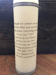 Light A Candle In Memory Poem Wedding Memorial Candle Remembrance Candle Unity Candle