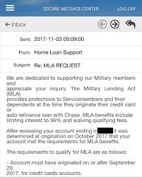 Mla Waiver Working For Chase Derp Report