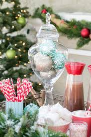 Apothecary Jars Christmas Decorations Christmas Decorating An Outdoor Holiday Hot Cocoa Stand 85