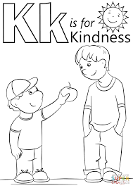 Kindness Coloring Pages Wumingme
