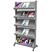 Office magazine racks Foldable Five Shelf Mobile Literature Rack Paf255n02 Office Furniture Office Magazine Racks Literature Holders Officefurniturecom