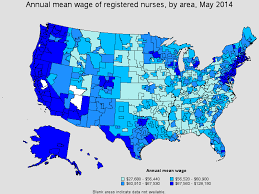 annual mean wage of rn 2016 by area