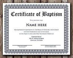 Baptism Certificate 11 Best Certificates Images Baby Dedication Certificate