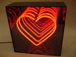 infinity box. stage installation (diamond) custom neon infinity box r