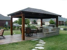 covered outdoor kitchen ideas designs pictures metal roof with gazebo plans architectures licious k