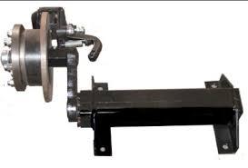 torsion trailer axles with brakes. 1.5t torsion half axle with hydraulic disc brakes trailer axles e