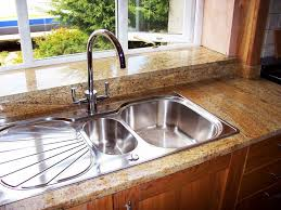 image of drop in stainless steel kitchen sinks