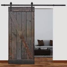 solid wood paneled pine slab interior barn door