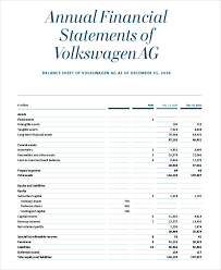 annual financial statement template financial statement 23 free word pdf format free