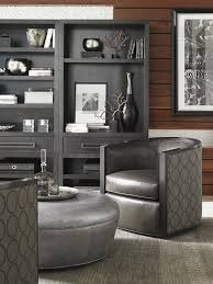 Leather Swivel Chairs For Living Room Carrera Palermo Leather Swivel Chair Lexington Home Brands