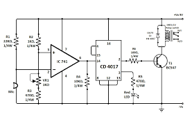 simple clap switch circuit electronic circuit projects simple clap switch circuit