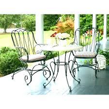 black iron bistro chairs wrought set garden sets cafe table and furniture costco