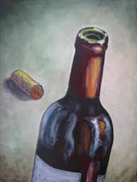 september 2016 vino painting bottle