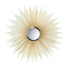 decorative starburst gold wall mirror starburst wall mirror decor inspiration