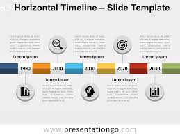 Timeline Powerpoint Slide Horizontal Timeline For Powerpoint And Google Slides