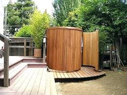 outside shower ideas outdoor shower designs exotic wooden round outdoor shower enclosure gallery outdoor shower ideas outside shower ideas