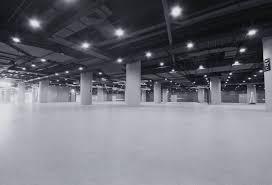 Underground car park - White Concrete Floors