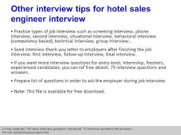 Hotel Sales Engineer Interview Questions And Answers Ppt Download