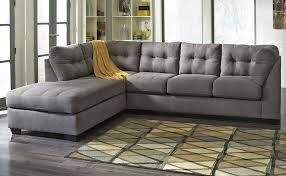 luxury gray leather sectional sofa with chaise