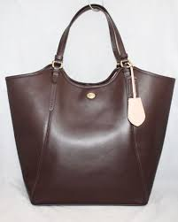 NWT COACH F26103 Peyton Mahogany Brown Saffiano Leather Large Tote  358
