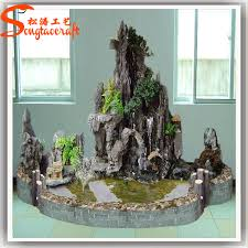 Small Picture Artificial Fiberglass Rock Waterfall Home Decoration Fake Rocks