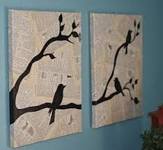 Wall Art with Newspaper