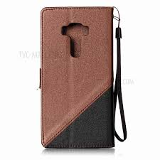 contract color sand like grain leather wallet stand shell cover with lanyard for asus zenfone