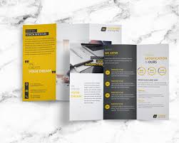 tri fold brochures free creative corporate trifold brochure free design resources