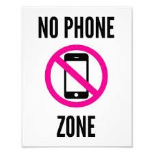 No Cell Phone Sign Printable No Phone Zone Photo Print