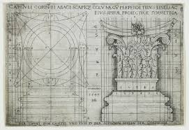 Ground Plan Base And Capital Of A Corinthian Column Sebald Beham