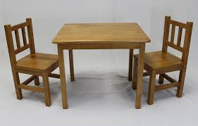 kids table and chair set wood