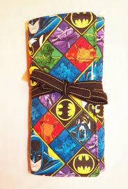 batman padded makeup brush roll dc ics art supply paint brush holder ic