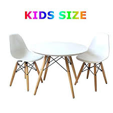 kids round table and chairs set of kids mid century modern wooden round table and two kids round table and chairs